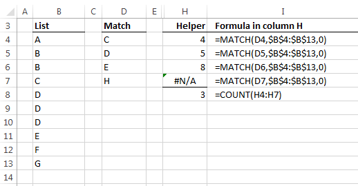 helper column to check values